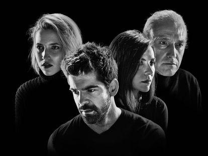 Los actores Miguel Ángel Muñoz, Ana Carlota Fernández , Ana Fernández y Gary Piquer, en 'Arte Nuevo'.