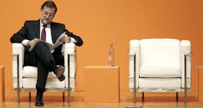 Rajoy, en un congreso ayer en Valencia.