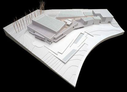 Maqueta del futuro Museo de la Universidad de Navarra.