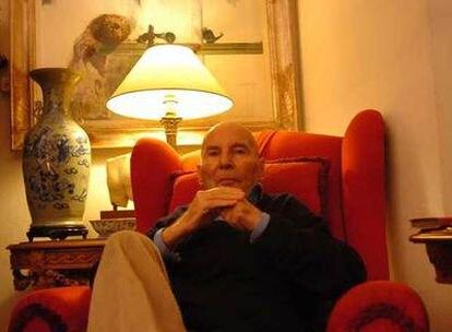 Hans Werner Henze, en su casa de Marino (Italia).