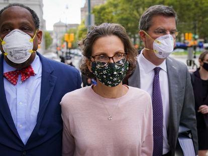 Clare Bronfman, a su llegada a la corte federal en Brooklyn, Nueva York, el miércoles.