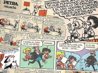 Una asistenta de hogar a la que su señora trata de forma despreciable, dos niños fumando, un padre que los encierra en un cuarto lleno de ratas... y todo era humor. Eran los años cincuenta y estos tebeos triunfaban en España.
