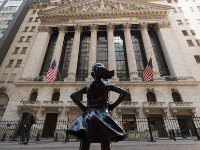 Imagen de la fachada de la Bolsa de Nueva York.
