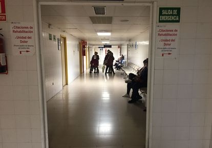 Imagen de un pasillo en el hospital La Paz, en Madrid.