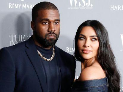 Kim Kardashian y Kayne West, en una entrega de premios en Nueva York en noviembre de 2019.