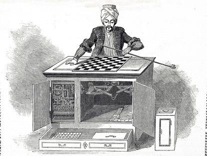 Ilustración del 'Turco de Kempelen'.