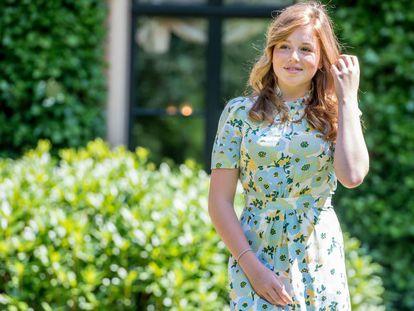 Alexia de Holanda, en el posado de verano de la familia real holandesa, en Wassenaar en julio de 2018.