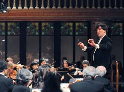 El director de orquesta Alan Gilbert, ayer en Barcelona.