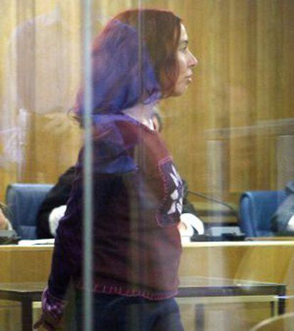 La etarra Inés del Río, en la Audiencia Nacional.