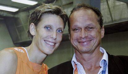 Ingrid Visser y su compañero sentimental Lodewijk Severein.