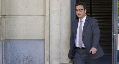 El fiscal Manuel Fernández Guerra, en los juzgados.
