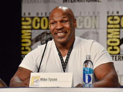 El exboxeador Mike Tyson en la pasada Comic-Con.