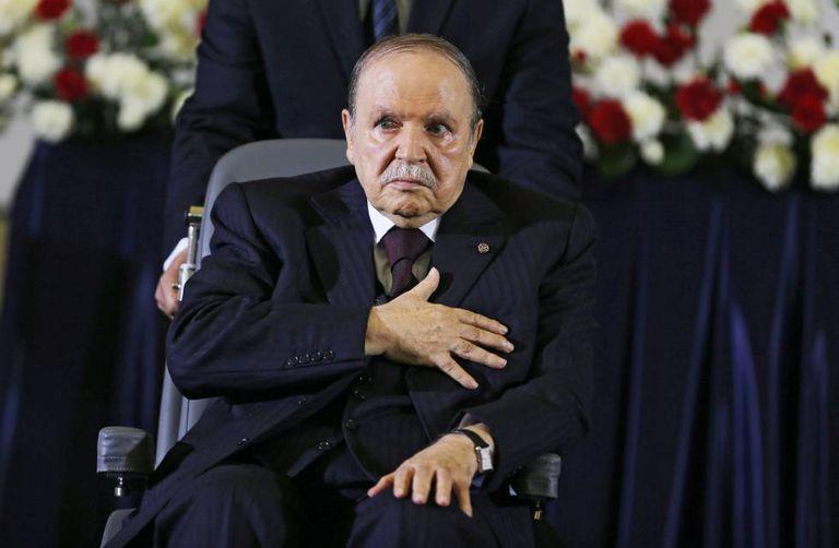 El expresidente argelino, Abdelazis Bouteflika, durante su mandato, en abril de 2014.