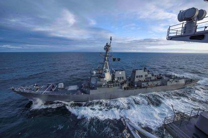 El 'USS Kidd', durante unas maniobras en Alaska en 2019.