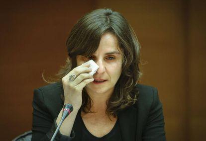 Beatriz Garrote, durante su comparecencia en las Cortes.