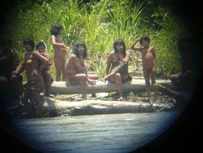 Miembros de la comunidad Mascho-Piro.