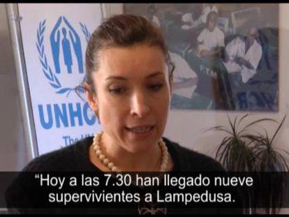 Carlotta Sami, portavoz de ACNUR, este miércoles.