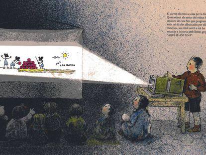 Ilustración de Maria Rius para el libro 'Les finestres de la Maria'.