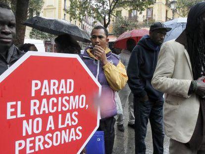 Acto organizado en Madrid en el Día Internacional contra el Racismo.