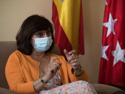 La fiscal superior de Madrid, Almudena Lastra, durante la entrevista en su despacho en el Tribunal Superior de Justicia de Madrid.