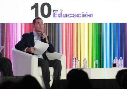 El candidato Ricardo Anaya, durante el encuentro.