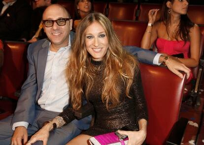 Willie Garson y Sarah Jessica Parker en los premios de la MTV en Los Ángeles en 2008.