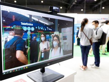 Cámara de reconocimiento facial en el Mobile World Congress de Barcelona el pasado junio.