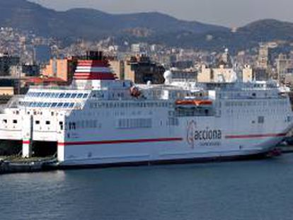 El buque Sorolla de la flota de Acciona Trasmediterránea.