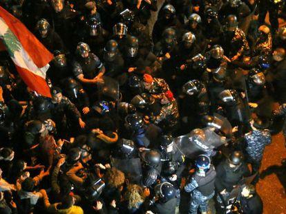 Protestas en Líbano, el pasado día 17.