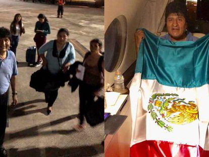 Evo Morales en el avión de la Fuerza Aérea mexicana. En vídeo, declaraciones de Marcelo Ebrard, secretario de Relaciones Exteriores de México.
