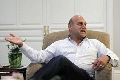 Salim Ismail durante una entrevista con EL PAÍS RETINA