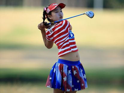 Lucy Li, en la primera jornada del US Open.