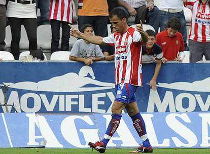 Mate Bilic celebra el cuarto gol del Sporting.