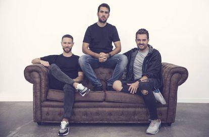 Desde la izquierda: Francisco Pérez, Pablo Sánchez y David Moreno, creadores de Saldum Ventures.