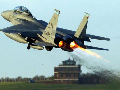 Un F-15 en una imagen de archivo.