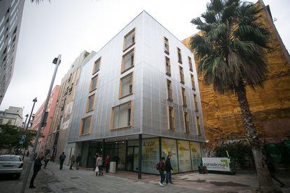 Edificio de protección oficial del Ayuntamiento de Barcelona, en una imagen de 2019.