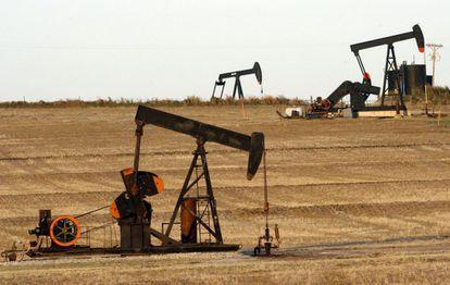 Pozos petroleros en Texas, en Estados Unidos