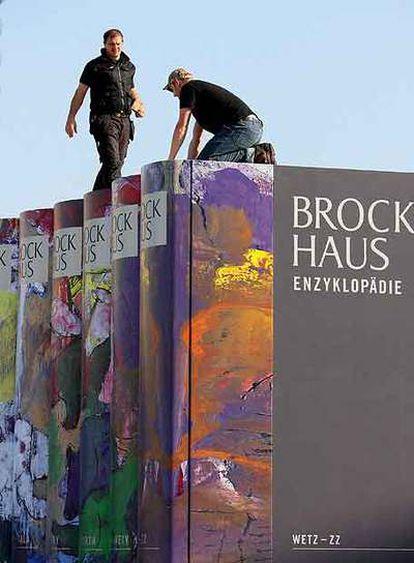 Esculturas diseñadas por Armin Mueller-Stahl para la Feria de Francfort de este año