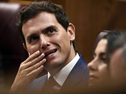 El líder de Ciudadanos, Albert Rivera, el pasado 25 de julio en el Congreso de los Diputados.