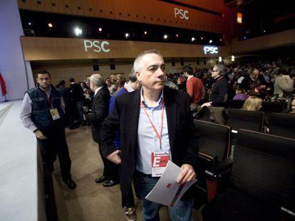 Pere Navarro, primer secretario del PSC, tras comunicar los miembros de la nueva ejecutiva.