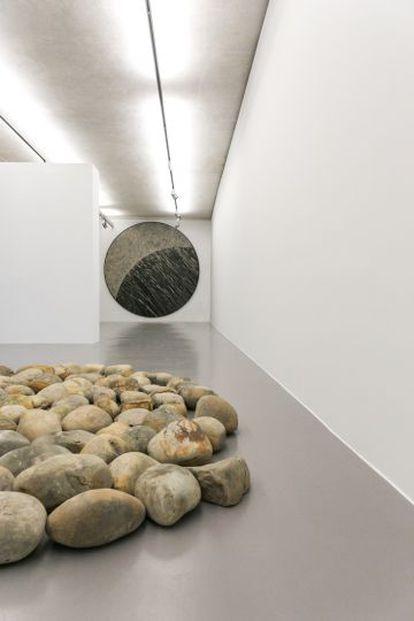 Una de las obras de la exposición 'Gravity', en Ivorypress (Madrid).