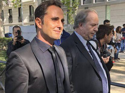 Herve Falciani, el pasado 11 de septiembre, a su llegada a la Audiencia Nacional.