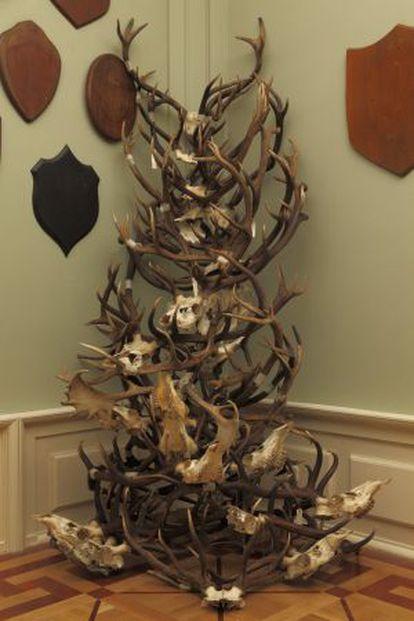 Instalación 'El aura de los ciervos', de Miguel Ángel Blanco.