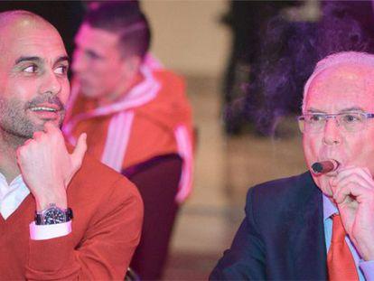 Guardiola y Beckenbauer