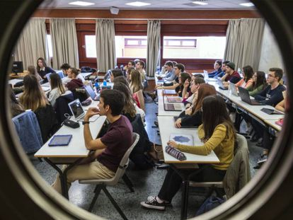 Una clase en Valencia.