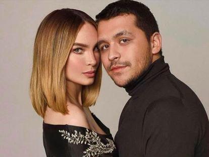 La pareja de cantantes mexicanos Belinda y Christian Nodal.