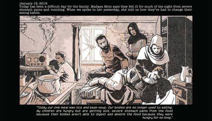 Madaya Mom es el cómic periodístico que cuenta la vida en una ciudad sitiada por el gobierno sirio.