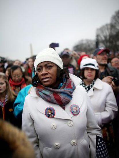 Asistentes a la ceremonia de inauguración del segundo mandato de Obama.