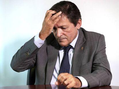 El presidente de la gestora del PSOE, Javier Fernández, el pasado 8 de octubre.