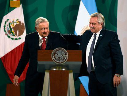Andrés Manuel López Obrador y Alberto Fernández, presidentes de México y Argentina.